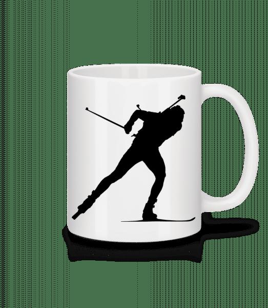 Skiing Cross Country Black - Mug - White - Vorn