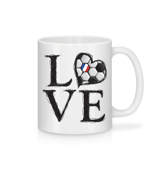 Football Love France - Mug - White - Vorn