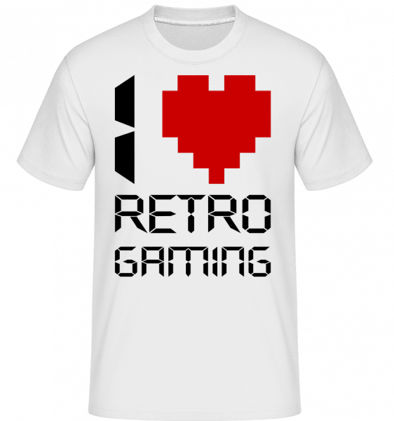 I Love Retro Gaming -  T-Shirt Shirtinator homme - Blanc - Vorn