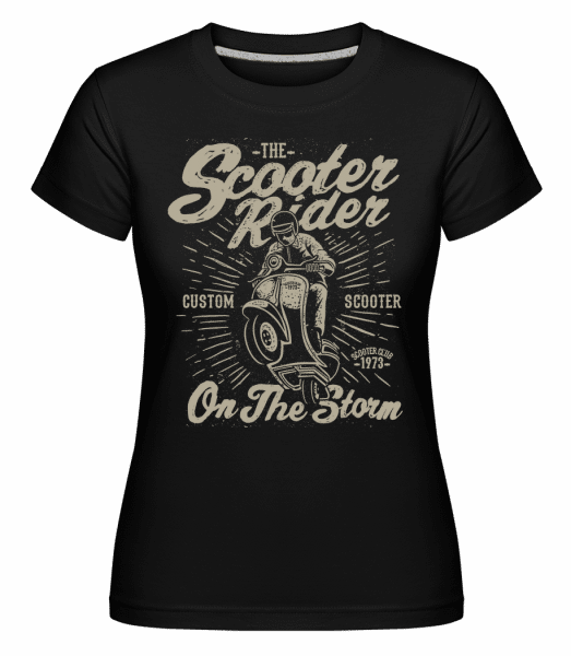 Scooter Rider -  Shirtinator Women's T-Shirt - Black - Vorn