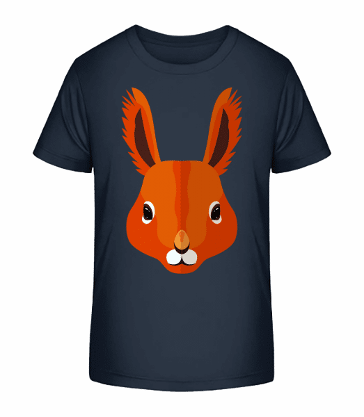 Eichhörnchen Comic - Kinder Premium Bio T-Shirt - Marine - Vorn