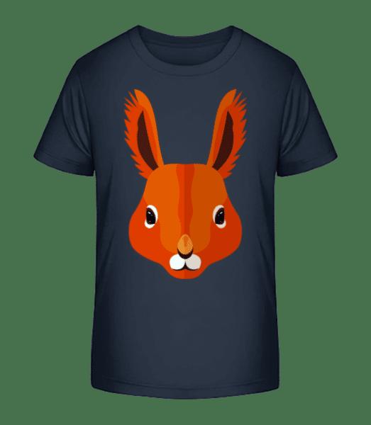 Squirrel Comic - Kid's Premium Bio T-Shirt - Navy - Front