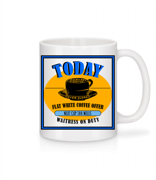 Flat White Coffee Offer - Mug - White - Front