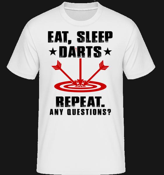 Eat Sleep Darts Repeat -  Shirtinator Men's T-Shirt - White - Vorn