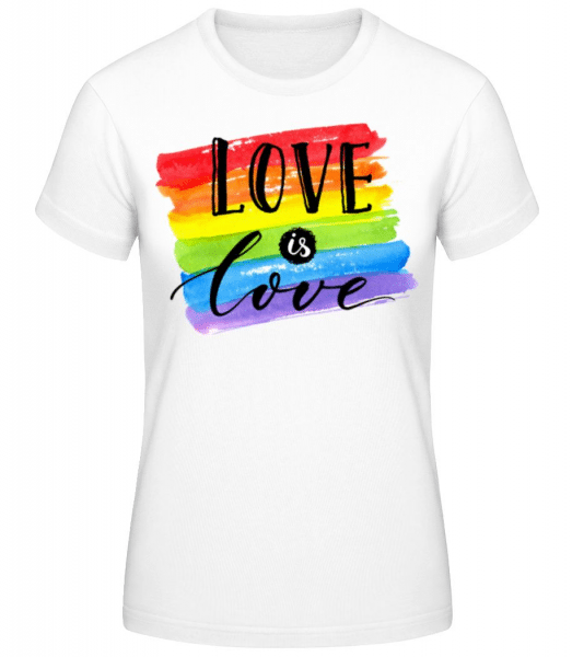 Love Is Love - Women's Basic T-Shirt - White - Front