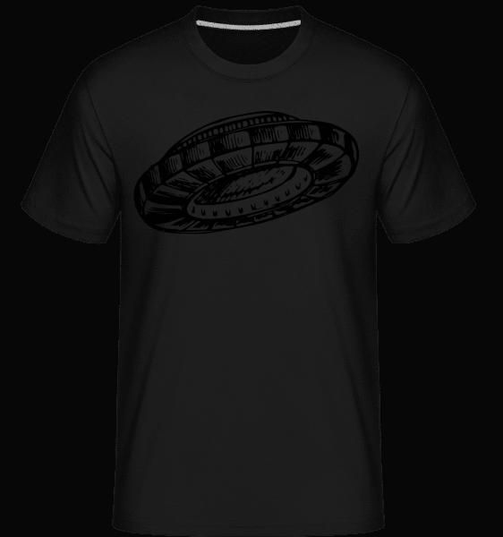 Ufo - Shirtinator Männer T-Shirt - Schwarz - Vorn