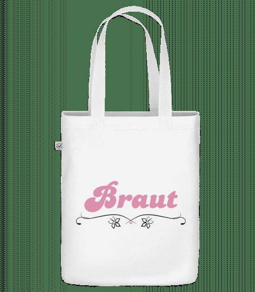 Braut - Bio Tasche - Weiß - Vorn