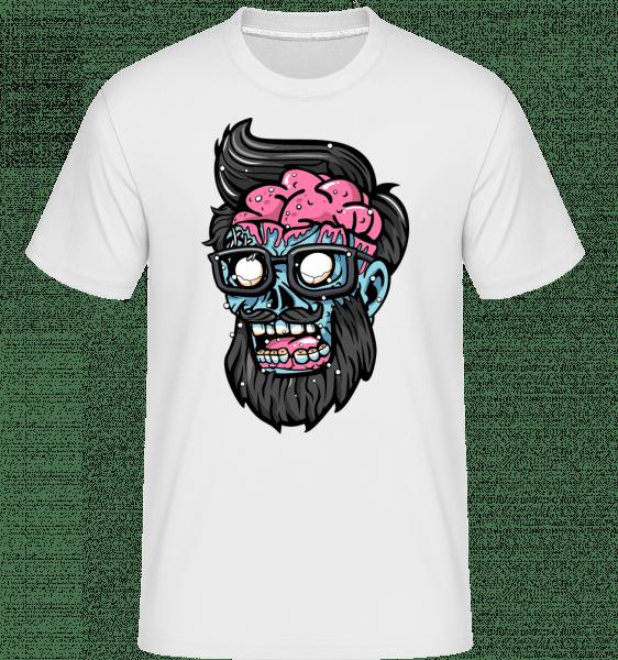 Zombie Head -  Shirtinator Men's T-Shirt - White - Vorn