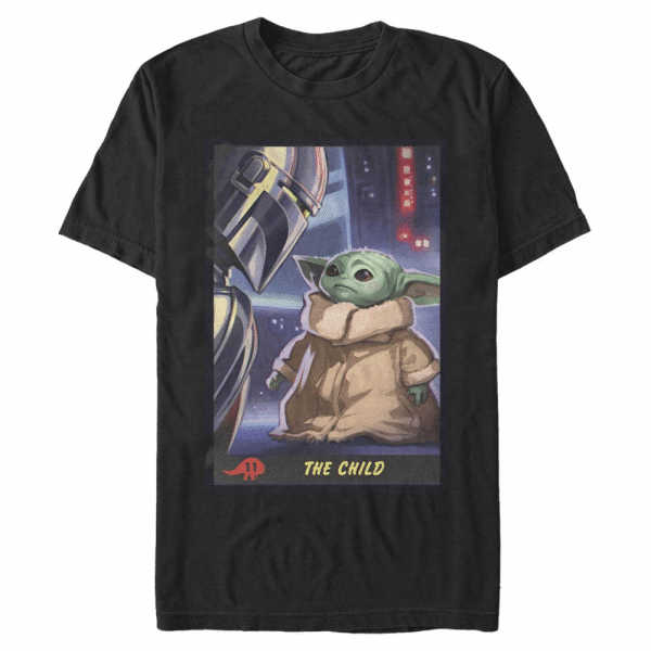 Little Trading Card The Child - Star Wars Mandalorian - Men's T-Shirt - Black - Front