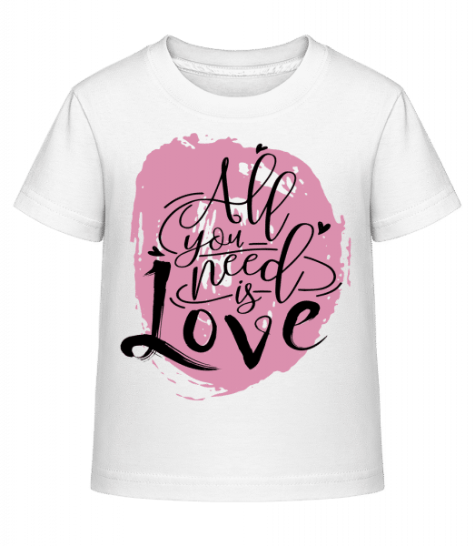 All You Need Is Love - Kid's Shirtinator T-Shirt - White - Vorn