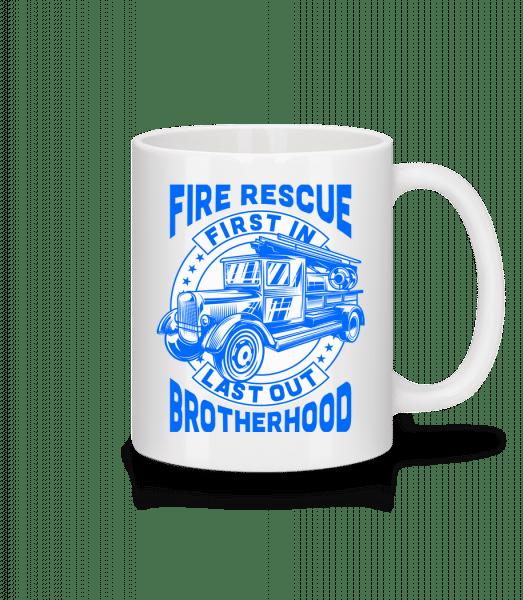 Fire Rescue First In Last - Tasse - Weiß - Vorn