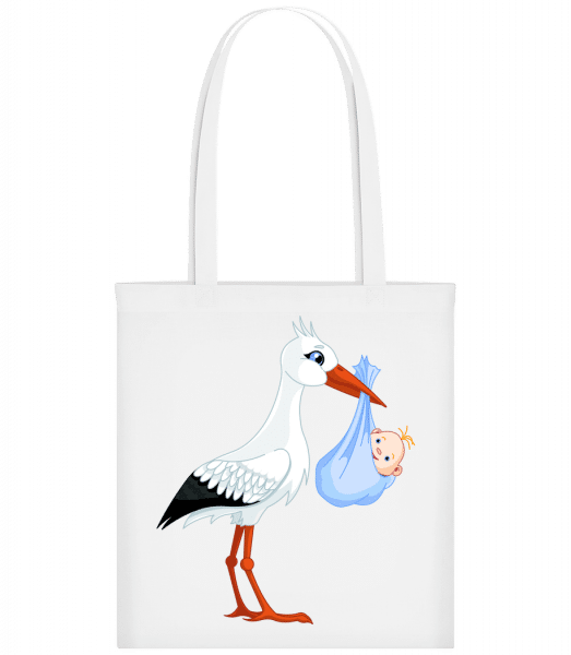 Stork Brings Baby - Carrier Bag - White - Vorn