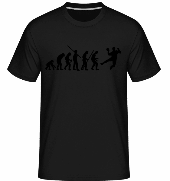 Handball Evoluiton - Shirtinator Männer T-Shirt - Schwarz - Vorn
