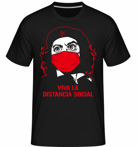 Distancia Social -  Shirtinator Men's T-Shirt - Black - Front