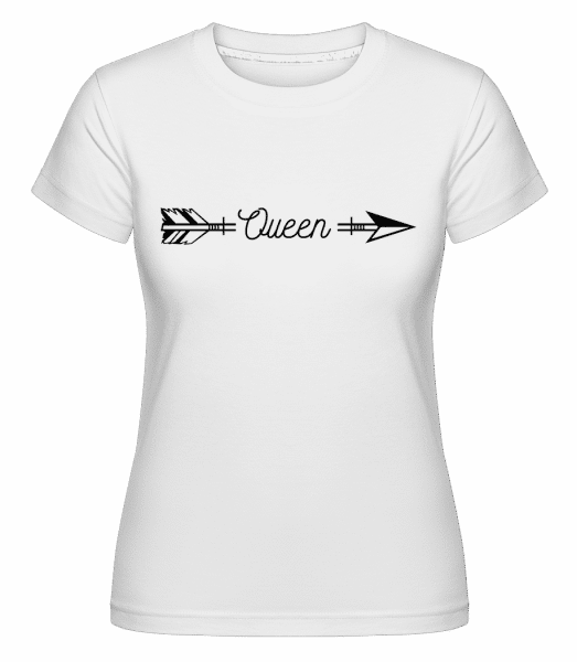 Queen Arrow -  T-shirt Shirtinator femme - Blanc - Vorn
