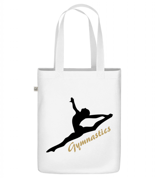 "Split Jump Black - Organic ""Earth Positive"" tote bag - White - Front"
