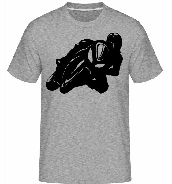 Biker Silhouette -  Shirtinator Men's T-Shirt - Heather grey - Vorn