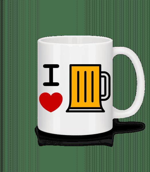 I Love Beer - Mug - White - Vorn