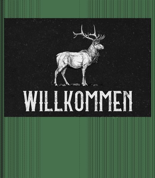 Willkommen Hirsch - Doormat - White - Front