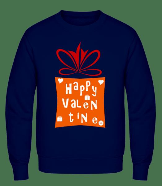 Happy Valentine - Men's Sweatshirt AWDis - Navy - Vorn