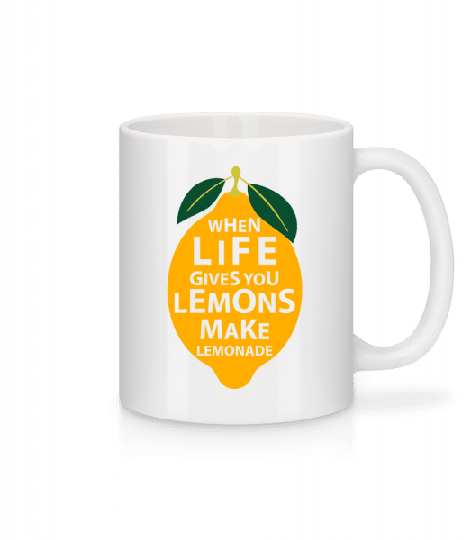 When Life Gives You Lemons - Mug - White - Front