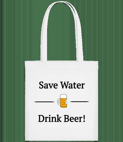 Save Water Drink Bier - Carrier Bag - White - Vorn