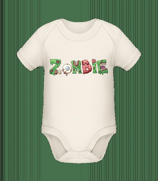 Zombie Font - Organic Baby Body - Cream - Vorn