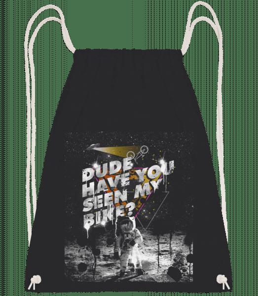 Have You Seen My Bike - Drawstring Backpack - Black - Vorn
