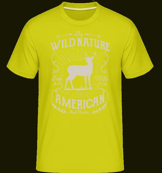 Wild Nature -  Shirtinator Men's T-Shirt - Lime - Vorn