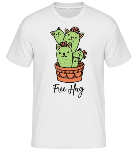 Catus Free Hug -  Shirtinator Men's T-Shirt - White - Front