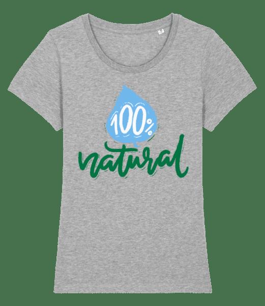 100% Natural - T-shirt premium bio Stanley Stella Femme - Gris chiné - Vorn