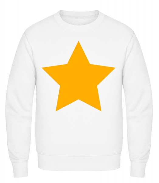 Star Icon Yellow - Classic Set-In Sweatshirt - White - Vorn