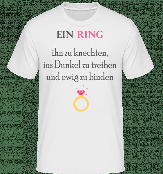 Ein Ring Ihn Zu Knechten - Shirtinator Männer T-Shirt - Weiß - Vorn