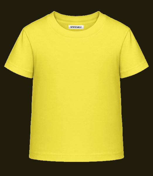 Kid's Shirtinator Basic T-Shirt - Yellow - Front