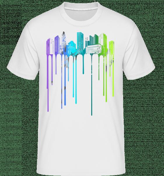 Graffiti City -  Shirtinator Men's T-Shirt - White - Vorn