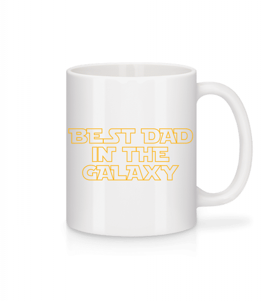 Best Dad In The Galaxy - Tasse - Weiß - Vorn
