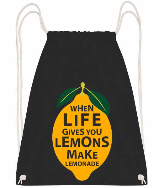When Life Gives You Lemons - Drawstring Backpack - Black - Vorn