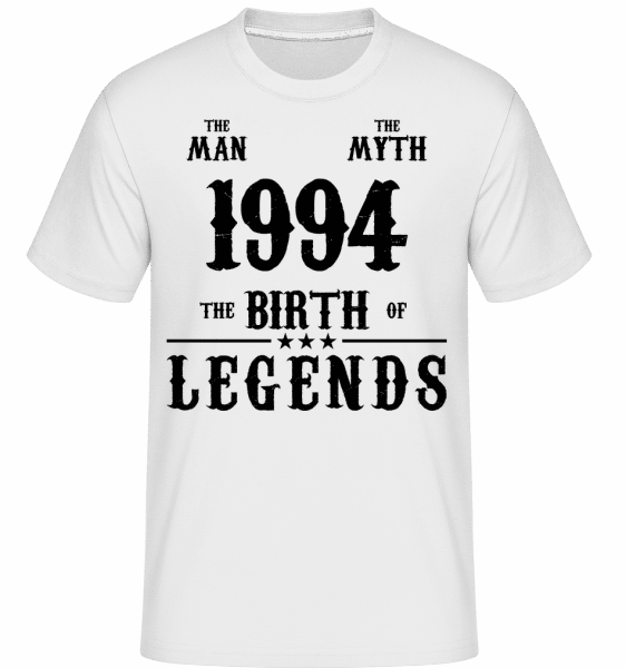 1994 The Man Myth -  T-Shirt Shirtinator homme - Blanc - Vorn