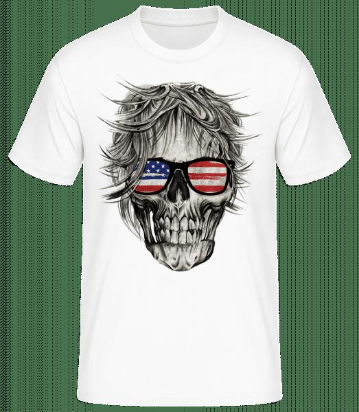 Skull America - Basic T-Shirt - White - Vorn