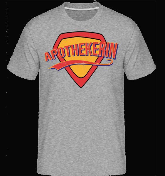 Superheldin Apothekerin - Shirtinator Männer T-Shirt - Grau meliert - Vorn