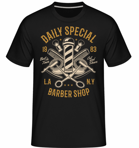 Daily Special Barber Shop -  Shirtinator Men's T-Shirt - Black - Vorn