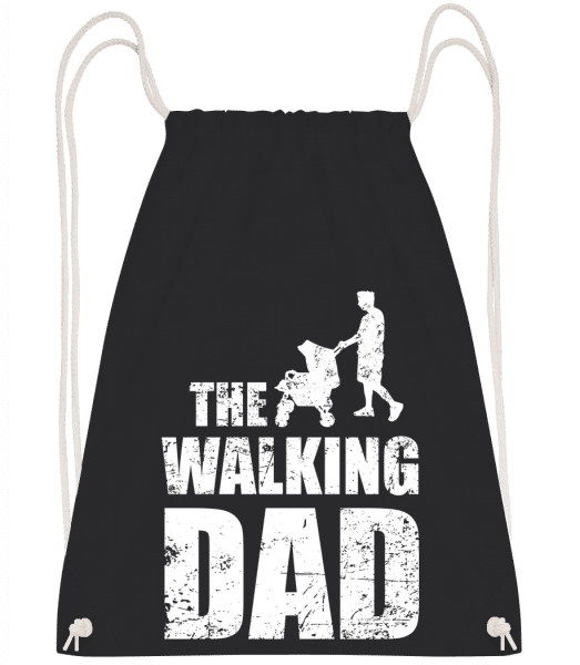 The Walking Dad - Drawstring Backpack - Black - Vorn