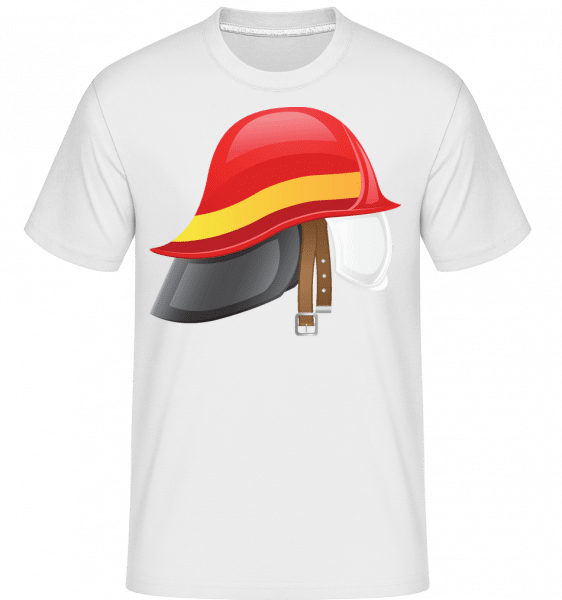 Fire Protection Symbol -  T-Shirt Shirtinator homme - Blanc - Vorn