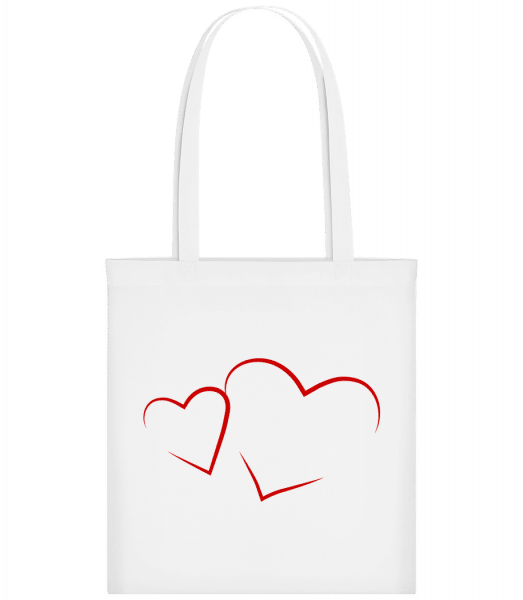 Hearts - Carrier Bag - White - Vorn