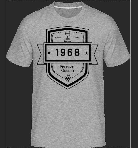 Perfekt Gereift 1968 - Shirtinator Männer T-Shirt - Grau meliert - Vorn