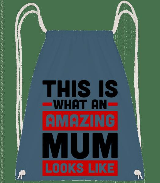 Amazing Mum - Drawstring Backpack - Navy - Vorn