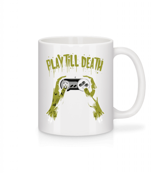 Play Till Death - Mug - White - Vorn