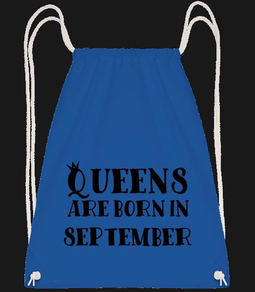 Queens Are Born In September - Drawstring Backpack - Royal blue - Vorn