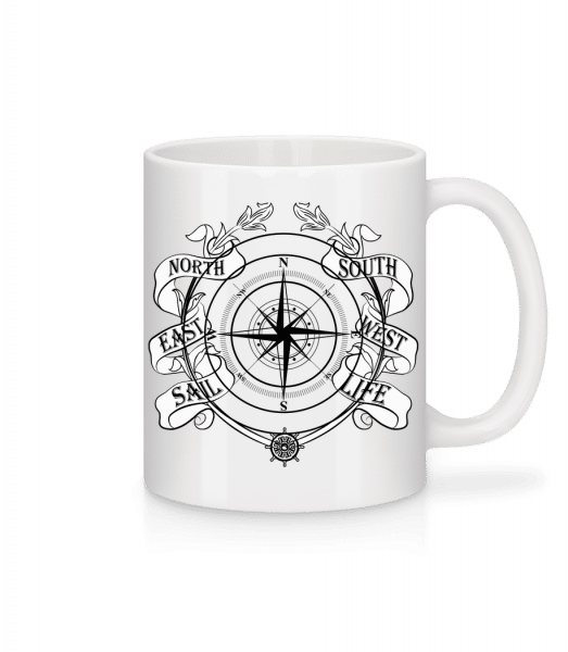 Sailing Compass - Mug - White - Vorn