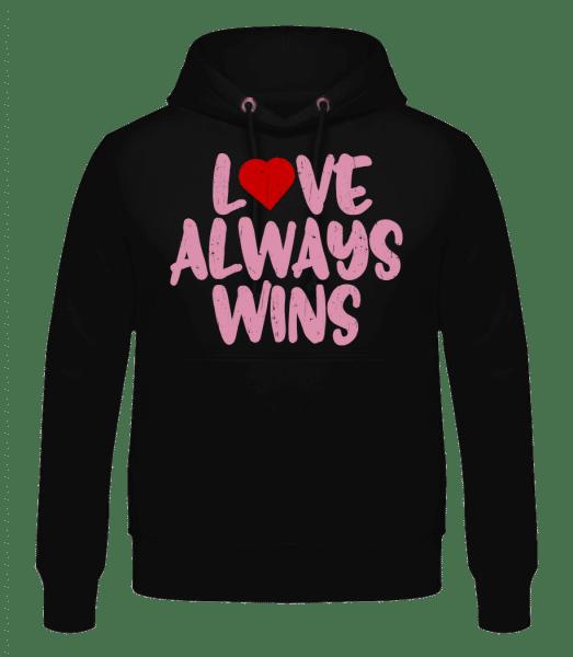 Love Always Wins - Men's Hoodie - Black - Vorn